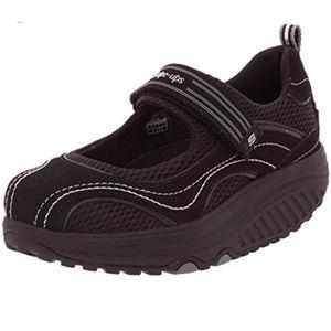 Shape-Ups Black Mary Jane Fitness Sneakers